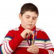 Child with pens - Stock Photo