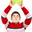 Boy with one balloon — Stock Photo