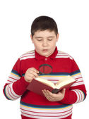 Boy reading a book — Stock Photo