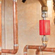 Stock Photo: Copper pipes