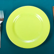 Stock Photo: Knife, plate and fork