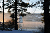 Solar observatory winter — Stock Photo