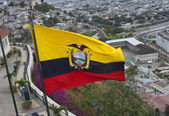 Ecuadorian flag — Stock Photo