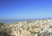 Underground cities in Capadocia Turkey — Stock Photo