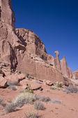 Rotsformatie in het arches national park — Stockfoto