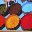 Nature coloring dyes in Cuzco Peru — Stockfoto
