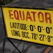 Equator sign in Quito Ecuador — Stock Photo