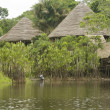 Lodge in the Ecuadorian Amazon — Stock Photo