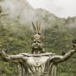 Inca God by Machu Picchu — Stock Photo