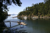 Bay on British Columbia coast — Stock Photo