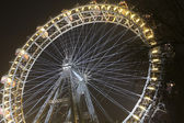 Giant Ferris wheel Riesenrad at night_action — Stock fotografie