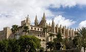 在西班牙马略卡岛的帕尔马大教堂 — 图库照片