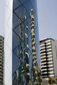 Reflective art of tall buildings in Lima Peru — Stock Photo