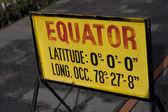 Equator sign in Quito Ecuador — Stock Photo