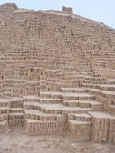 Huaca Pucllana Pyramid in Lima Peru — Stock Photo