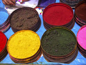 Nature coloring dyes in Cuzco Peru — Stock Photo
