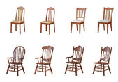 Isolated chairs and armchairs on a white background — Stock Photo