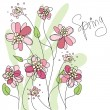 Spring  floral background — Stock Vector