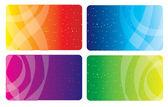 Kolorowe wizytówki — Wektor stockowy