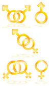 Male and Female symbols — Stock Vector