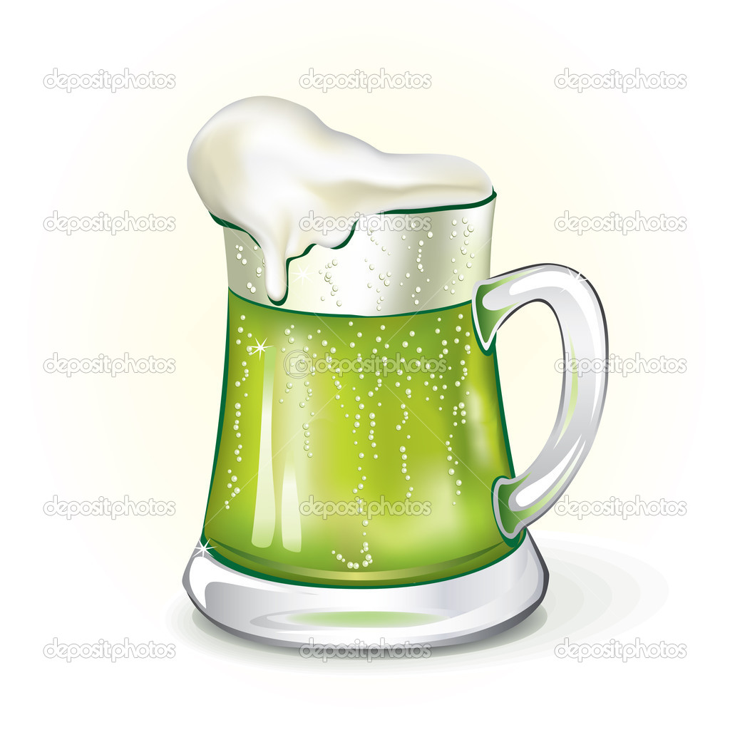 Mug of ale, vector illustrated  Stock Vector #5393572