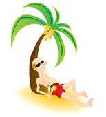 Turista na dovolené. — Stock vektor