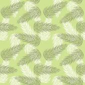 Зеленый фон с ветки, еловые шишки — Cтоковый вектор