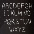 Chalk alphabet - Stock Vector