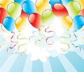 Background with balloons — Vector de stock
