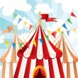 Stock Vector: Circus background