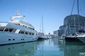 Entering the Gibraltar Marina — Stock Photo