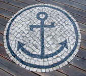 Mosaic Anchor — Stock Photo