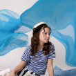 Girl sailor — Stock Photo