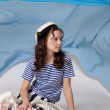 Girl sailor - Stock Photo