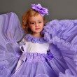 Child wearing pettiskirt — Stock Photo