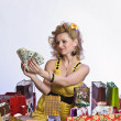 Young woman with dollars — Stock Photo #5623232