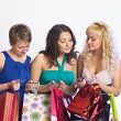 Shopping girls with credit cards — Stock Photo #5623434