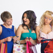 Shopping girls with credit cards — Stock Photo #5623435