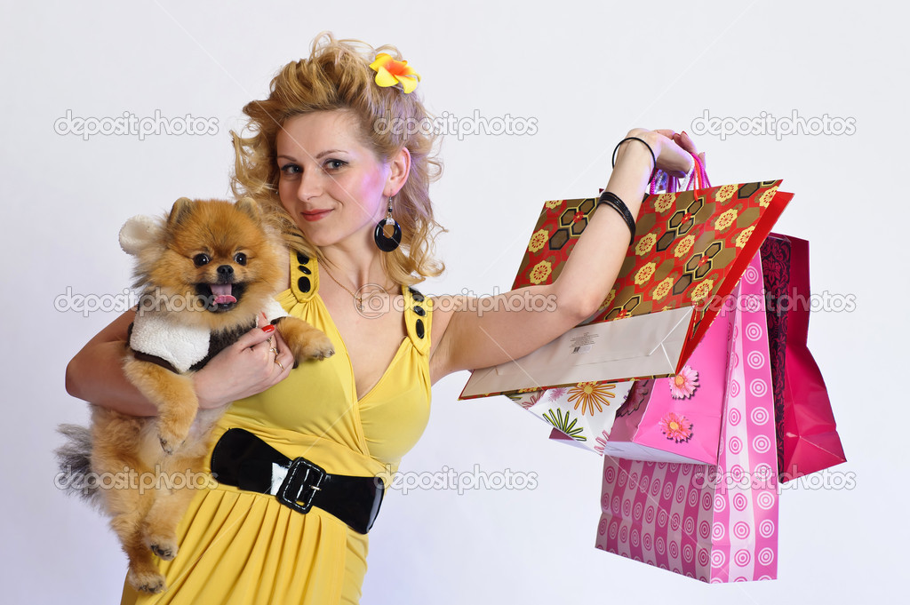 Happy buyer — Stock Photo #5623345