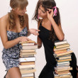 Two girls of the student — Foto Stock