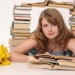 Young girl with books — Stock Photo #5706377