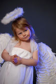 Girl angel — Stock Photo