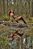 Girl amazon — Stock Photo