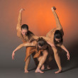 Three dancers — Stock Photo