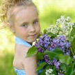 Stock Photo: Girl with lilac