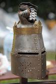 Středověké přilby — Stock fotografie