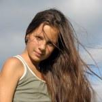 Windswept hair — Stock Photo