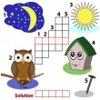 Crossword words game for children - Imagen vectorial