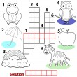 Crossword words game for children — Imagen vectorial