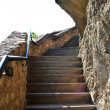 Meteora stairs — Stock Photo